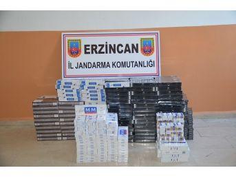 Erzincan'da 5 Bin 806 Paket Kaçak Sigara Ele Geçirildi