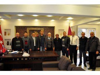Çetinkaya'dan Belediye Başkanı Tutal'a Ziyaret