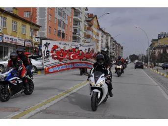 Seydişehir'de Şehitlere Saygı Konvoyu