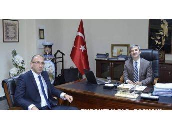 Mhp'li Özbayram'dan Başkan Turgay Şirin'e Ziyaret