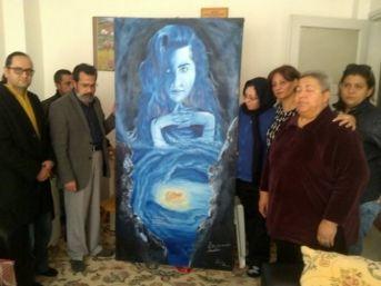 Sakaryalı Ressam Özgecan'ın Tablosunu Ailesine Ulaştırdı
