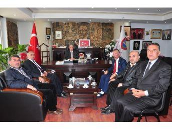 Kozan Merkez Muhtarlar Birliği'nden Barışık'a Ziyaret
