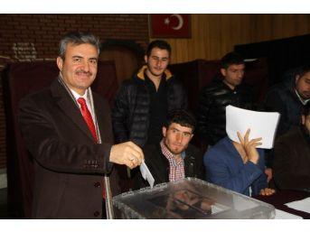 Ardahan'da Stk'lar Ak Parti'nin Temayül Yoklamasında Oy Kullandı