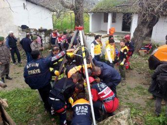 Aydın'da Ekipler Kuyuya Düşen Şahıs İçin Seferber Oldu