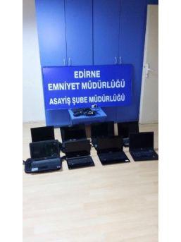 Edirne'de Lap Top Hırsızları Yakayı Ele Verdi