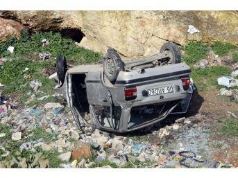 Gaziantep'te Çalıntı Bir Otomobil Uçuruma Yuvarlandı