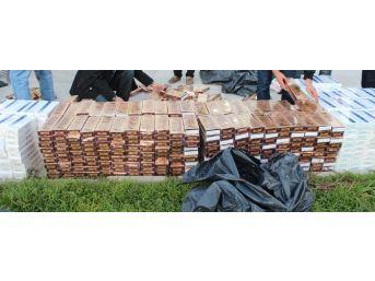 Kozmetik Ürünlerin Arasından 14 Bin 380 Paket Kaçak Sigara Çıktı
