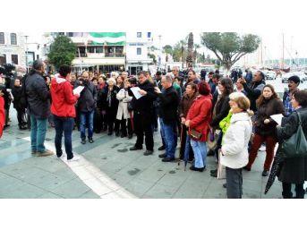 Bodrum'da Çocuk Tacizine Tepki Eylemi