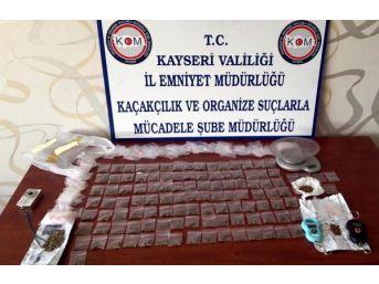 Kayseri'de Uyuşturucuya 4 Tutuklama