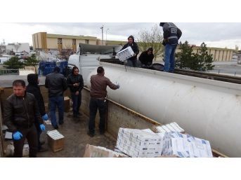 Konya'da 160 Bin Paket Kaçak Sigara Ele Geçirildi