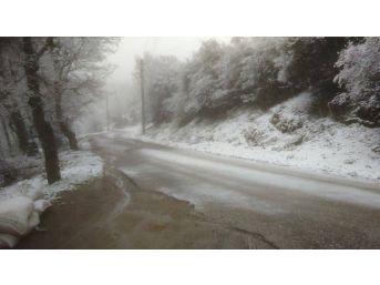 Turgutlu'nun Köylerine Kar Yağdı