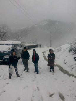 Gümeli'de Kar Kalınlığı 15 Santimetreye Ulaştı