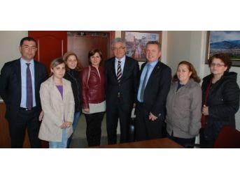 Turpçu'da Başkan Kantarcı'ya Ziyaret