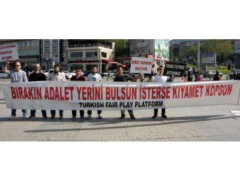 Trabzonspor Taraftarları 128 Haftadır Şike Eyleminde
