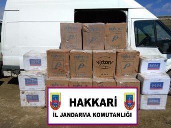 Hakkari'de 69 Bin 500 Paket Kaçak Sigara Ele Geçirildi