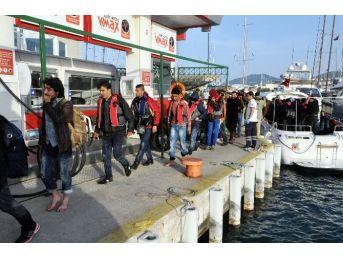 Kaçak Göçmenler 7 Saat Sonra Kurtarıldı