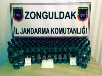 Zonguldak'Ta Otomobilde Kaçak Içki Yakalandı: 5 Gözaltı