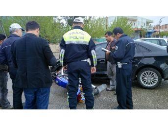 Adıyaman'da Otomobille Motosiklet Çarpıştı: 1 Yaralı