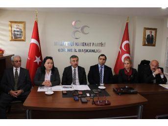 Mhp Edirne Milletvekili Adayı Şimşek, 'stant Tartışmalarına' Açıklık Getirdi