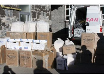 Kars'ta 29 Bin Paket Kaçak Sigara Ele Geçirldi