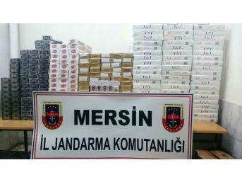Mersin'de 9 Bin 690 Paket Kaçak Sigara Ele Geçirildi