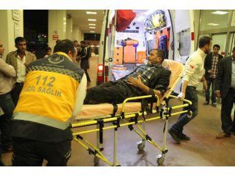 Sulama Kanalına Düşen Otomobilin Sürücüsü Yaralandı...