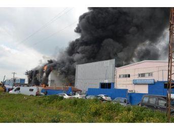 Çerkezköy Organize Sanayide Fabrika Yangını
