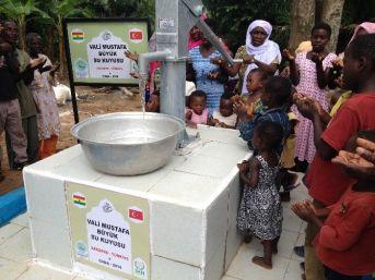 Gana'da Yaptırılan Su Kuyusuna Vali Büyük'ün Adı Verildi