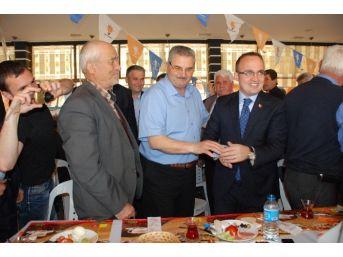 Bülent Turan, Biga'da Muhtarlarla Buluştu