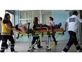 Gübre Serpme Makinesinin Pervanesi Yüzünden Yaraladı