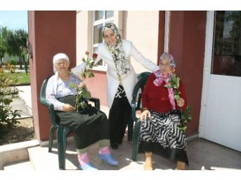 Saadet Partisi Milletvekili Adayı Özmekik'ten Annelere Gül Hediyesi