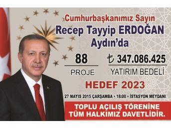Cumhurbaşkanı Erdoğan, 27 Mayıs'ta 88 Projenin Toplu Açılışını Yapacak