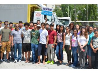 Kuşadalı Liseliler Makedonya Yolcusu