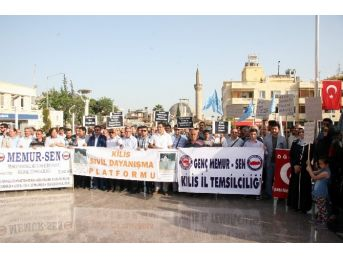Kilis'te Mursi'ye Destek Eylemi