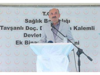 Kütahya'ya Helikopterle Gelen Müezzinoğlu, Ak Parti Amblemli Kürsüde Konuşma Yaptı (2)