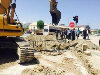 Muş'ta Yatay Del-geç Sistemli Kanalizasyon Çalışması