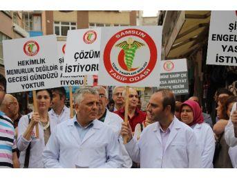 Sağlık Çalışanlarına Şiddete Protesto