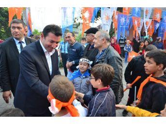 Ak Parti Heyetine Mithatpaşa Mahallesi'nde Coşkulu Karşılama