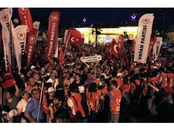 Erdoğan'ın Ardından Vatan Partisi De Mitingini Yaptı