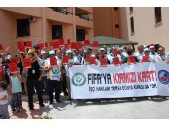 Tarım Orman İş'ten Fıfa'ya Protesto