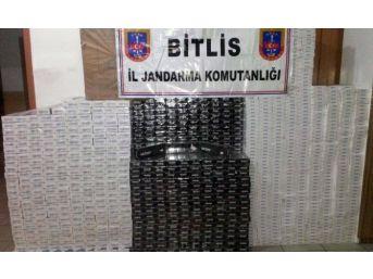 Bitlis'te 13 Bin 840 Paket Kaçak Sigara Ele Geçirildi