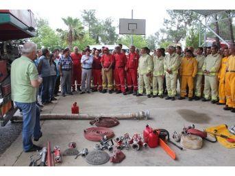 Yangın Söndürme Ekiplerine Uygulamalı Eğitim