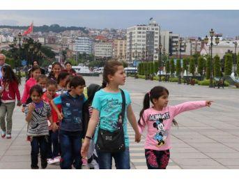 Samsun'da Köy Çocukları Kenti Gezdi