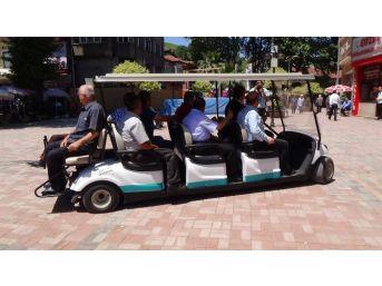 Çaycuma'da Elektrikli Golf Arabası Hizmete Girdi