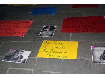 Bingöl'de Üniversite Öğrencilerinden Cansu Kaya Protestosu