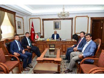 25. Dönem Milletvekili Çetinkaya Vali Şentürk'ü Ziyaret Etti