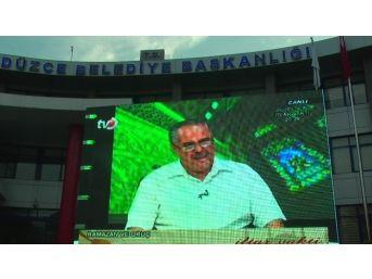 Düzce Tv Kent Merkezinde Dev Ekranlarda