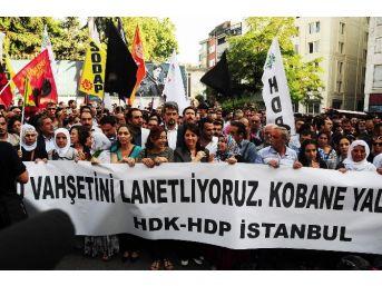 Taksim'de Hdp'lilerden Işid Protestosu