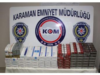 Karaman'da Kaçak Sigara Ele Geçirildi