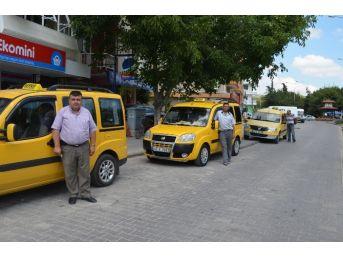 Kula'da Taksiler Denetimden Geçti